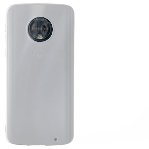 Ultra tunnt skal till för Motorola Moto G6 Ultra-Slim Gummi Mobi Vit