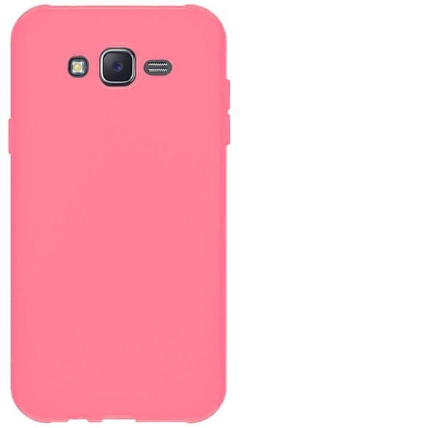 Ultra tunnt skal till för Samsung Galaxy J7 Mobil Ultra-Slim Gum Röd