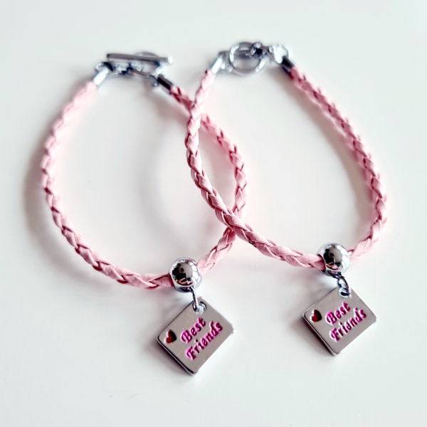 2 armband Best Friends BFF lila
