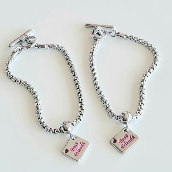 Armband Best Friends x 2 silver