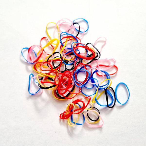 Minisnoddar silikon i flera färger flerfärgad