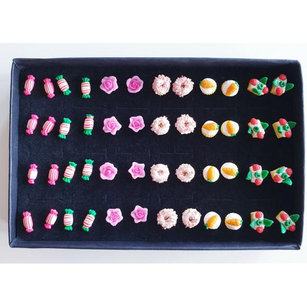Roliga örhängen - PRESENTASK flerfärgad