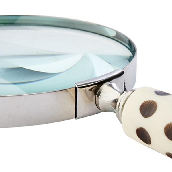 GLOBETROTTER Förstoringsglas svart & vitrutig