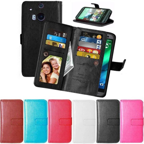 Dubbelflip Flexi 9-kort HTC ONE M8 Brun
