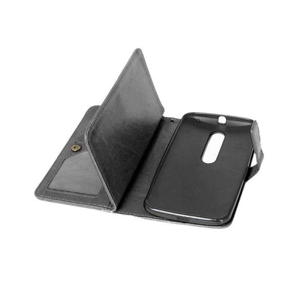 Dubbelflip Flexi 9-kort Motorola Moto X Play (XT1563) Ljusblå