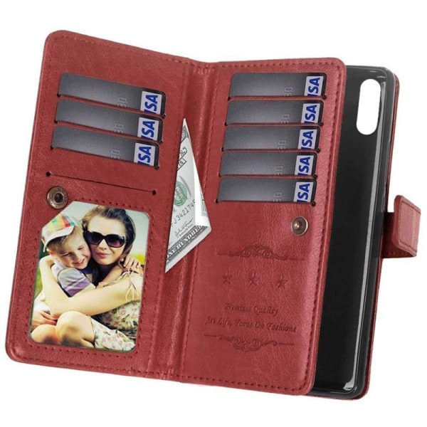 Dubbelflip Flexi 9-kort Motorola One  (XT1941) Brun