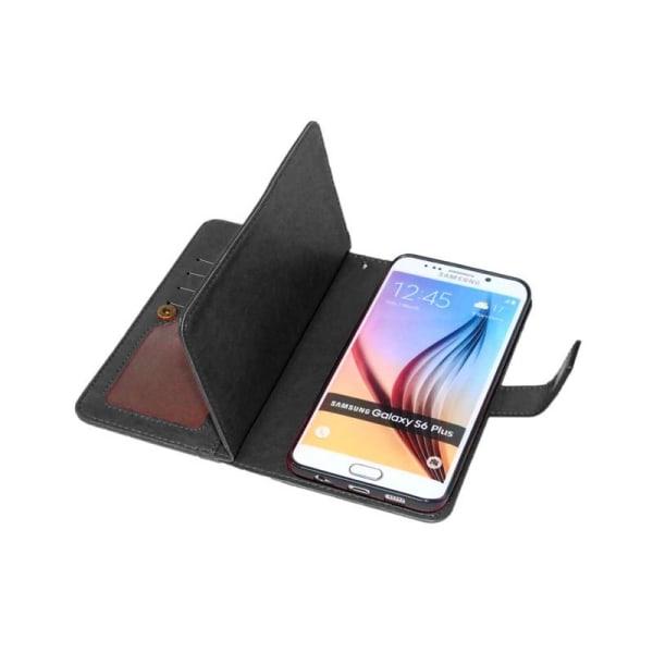 Dubbelflip Flexi 9-kort Samsung Galaxy S6 Edge Plus (SM-G928F) Svart
