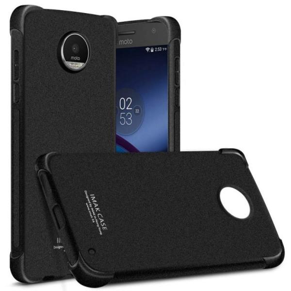 IMAK shockproof silikon skal Motorola Moto Z2 Play (XT1710) Svart