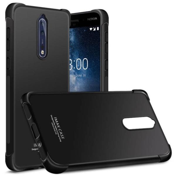 IMAK Shockproof silikon skal Nokia 8 (TA-1004) Svart