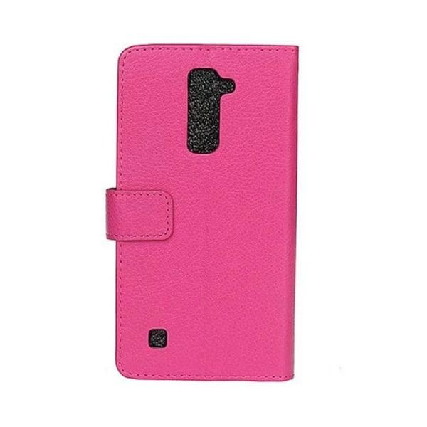 Mobilplånbok 2-kort LG K10 2016 (K420N) Rosa