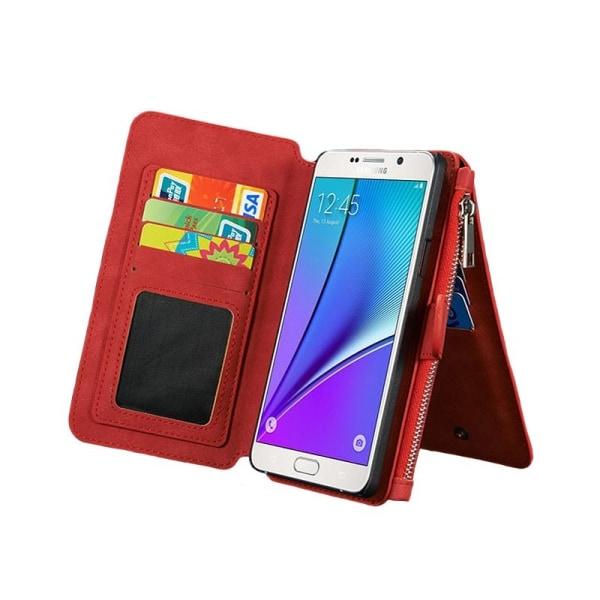 Multiplånbok 14-kort Samsung Galaxy S6 Edge Plus (SM-G928F) Röd