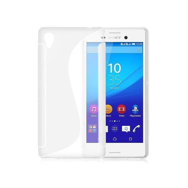 S Line silikon skal Sony Xperia M4 Aqua (E2303) Vit