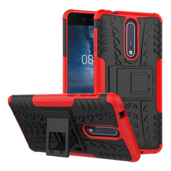 Stöttåligt skal med ställ Nokia 8 (TA-1004) Lila