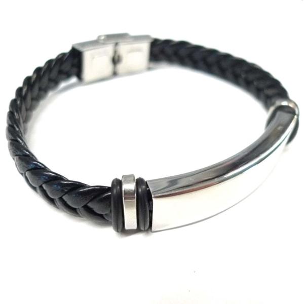 Armband Stål & Läder