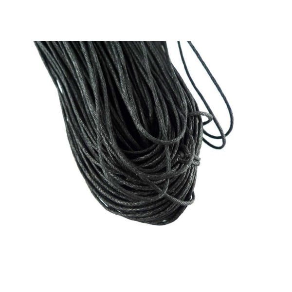 Cord 1m svart 1 mm