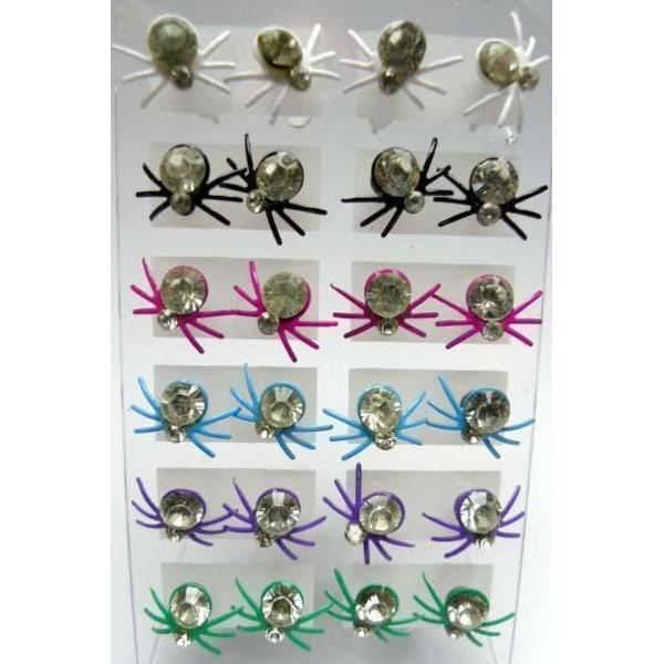 Spindelörhänge Lila Lila