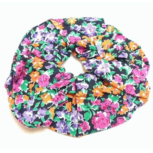 Blommig Stor Scrunchie