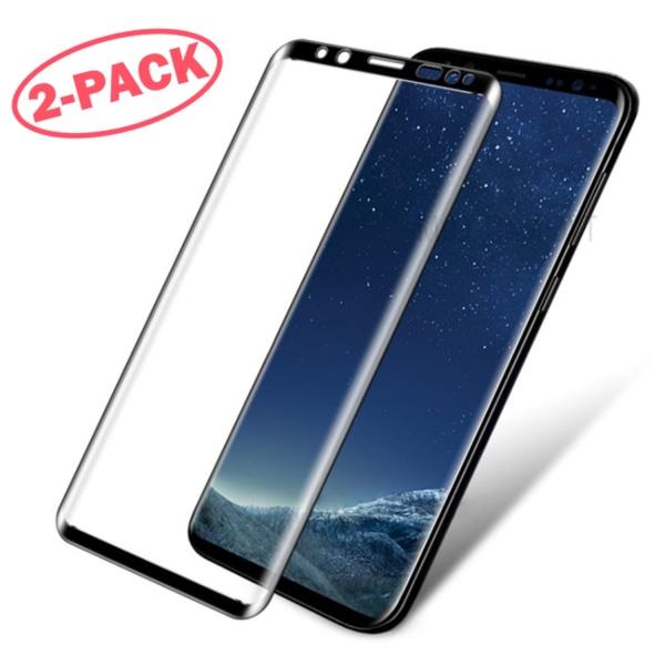2-Pack Skärmskydd Samsung Galaxy S8 - Heltäckande Glas Svart Svart
