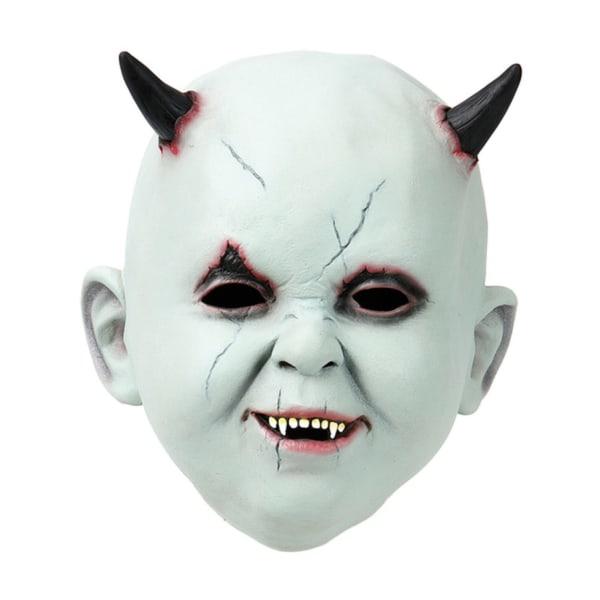 Djävulsbarn Latexmask / Halloweenmask - Maskerad - Halloween & M Grön