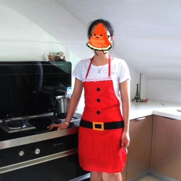 Förkläde - Köksförkläde till Julen - Jul - Röd