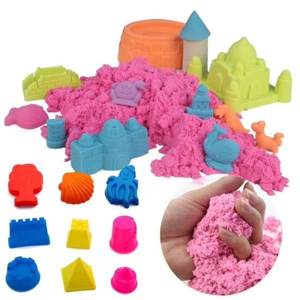 Formbar Sand / Kinetisk - Torkar aldrig ut - Flera färger Sand
