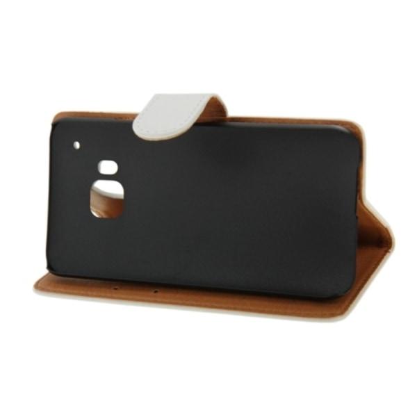HTC One M9 Plånboksfodral Crazy Horse Vit white