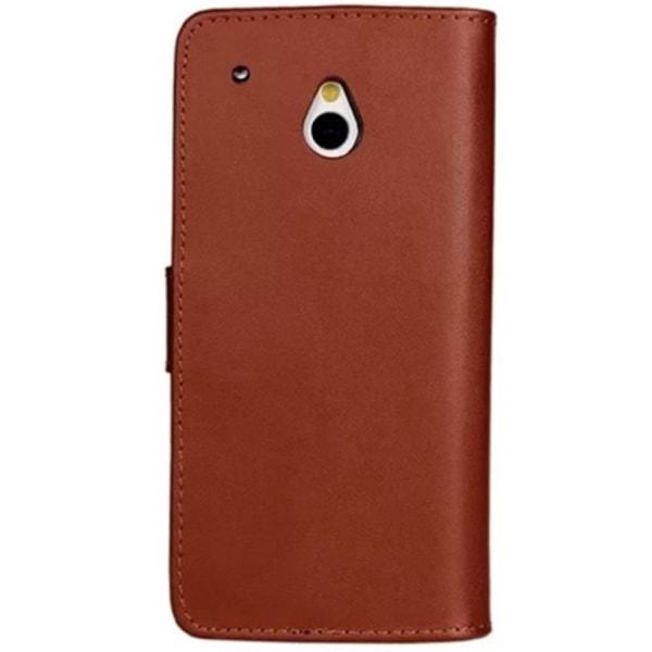 HTC One Mini / M4 Plånboksfodral Läder Brun Brun