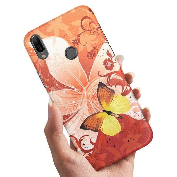 Huawei Y6 (2019) - Skal / Mobilskal Fjäril & Blomma