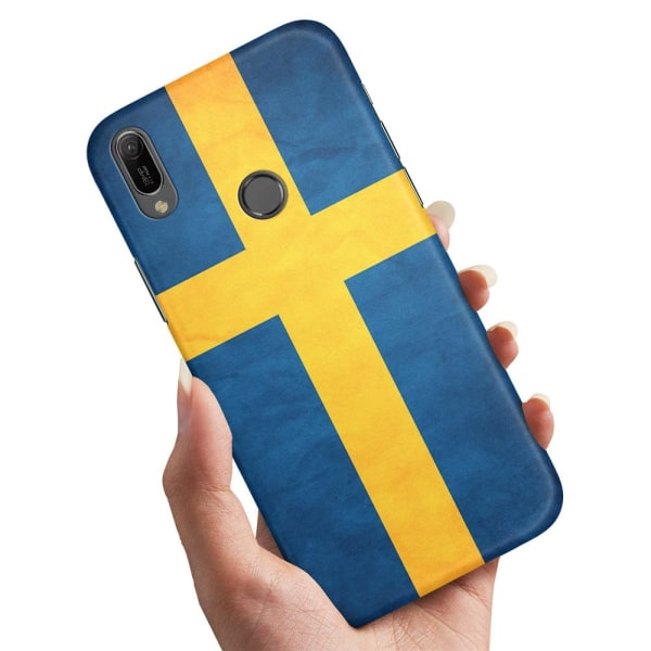 Huawei Y6 (2019) - Skal / Mobilskal Svenska Flaggan
