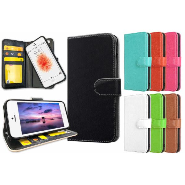 iPhone 5C - Plånboksfodral / Skal med Magnet Röd