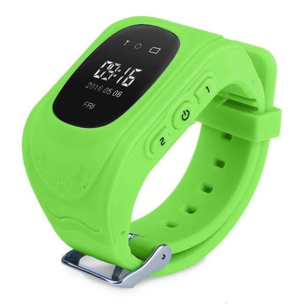 Klocka med GPS-tracker & SOS för Barn - Barnsäkerhet Grön