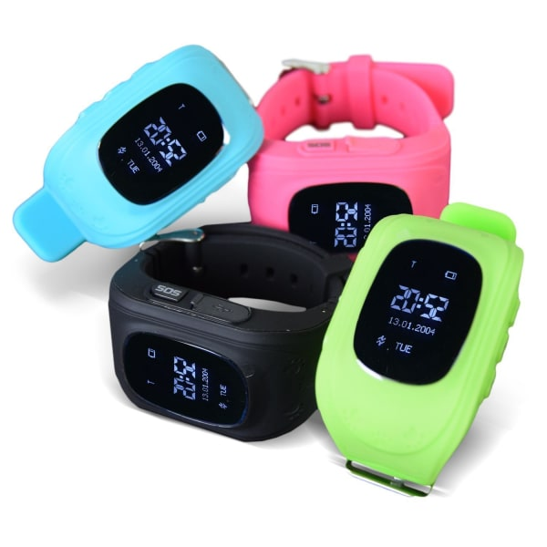 Klocka med GPS-tracker & SOS för Barn - Vit Vit