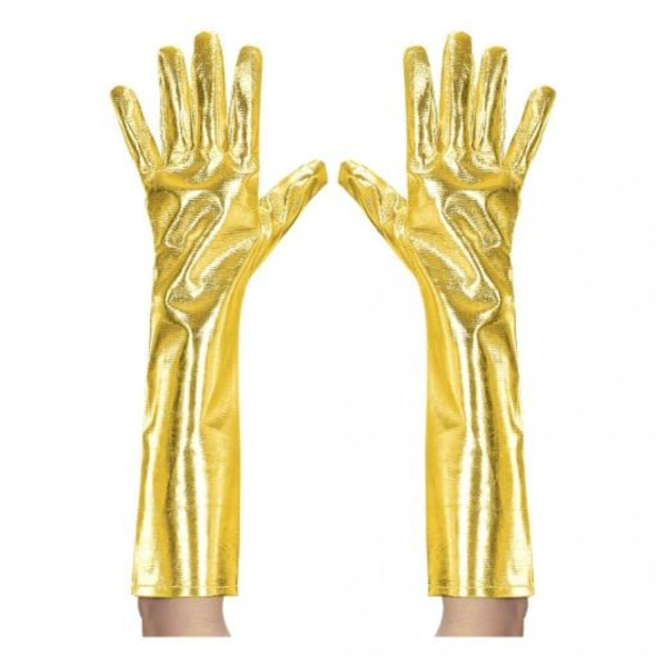 Långa Handskar - Guldmetallic