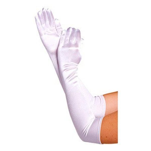 Långa Handskar - Vit - Halloween & Maskerad