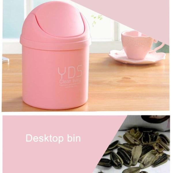 Mini Soptunna / Papperskorg till Skrivbord eller Bil - Rosa