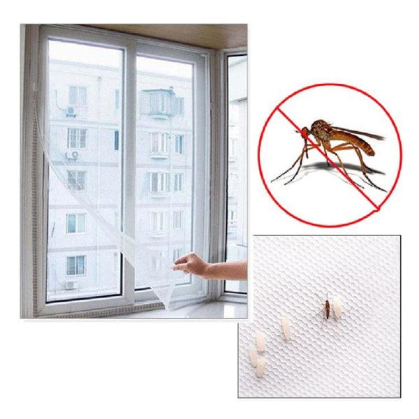 Myggnät / Insektsnät till Fönster - Klippbar - 130x150cm Vit