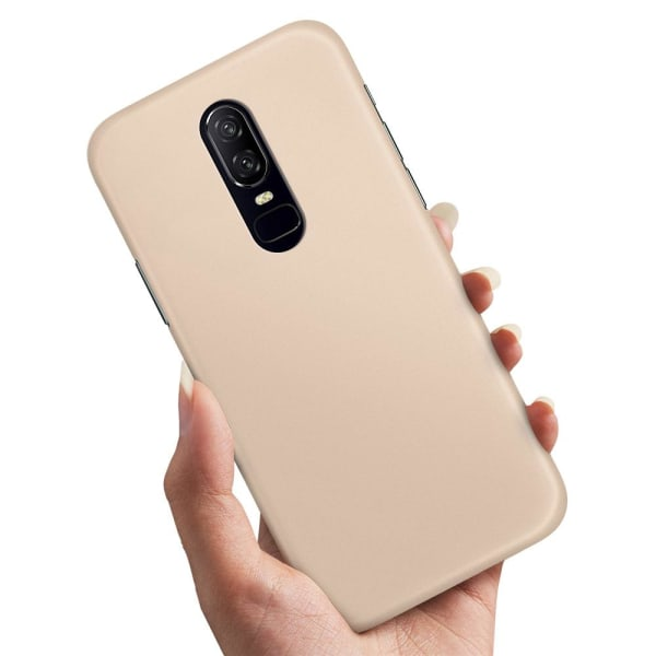 OnePlus 6 - Skal / Mobilskal Beige