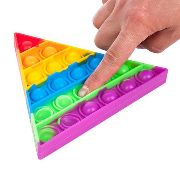 Pop It Fidget Toys - Leksak / Sensory - Triangel - Multifärg multifärg