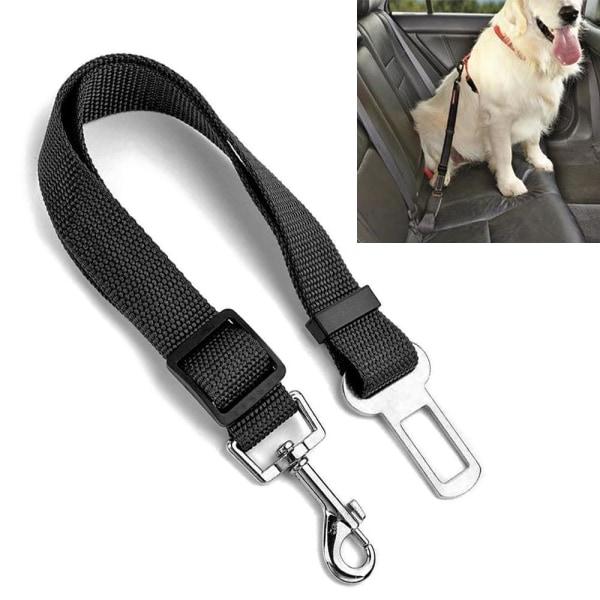 Säkerhetskoppel / Säkerhetsrem / Koppel för Hund - Till Bilen Svart