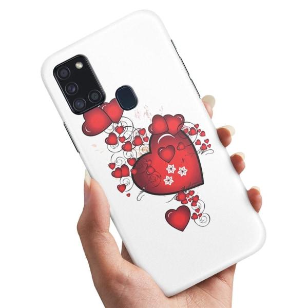 Samsung Galaxy A21s - Skal / Mobilskal Hjärtan
