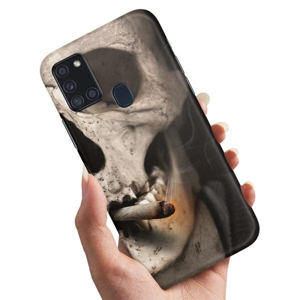 Samsung Galaxy A21s - Skal / Mobilskal Smoking Skull