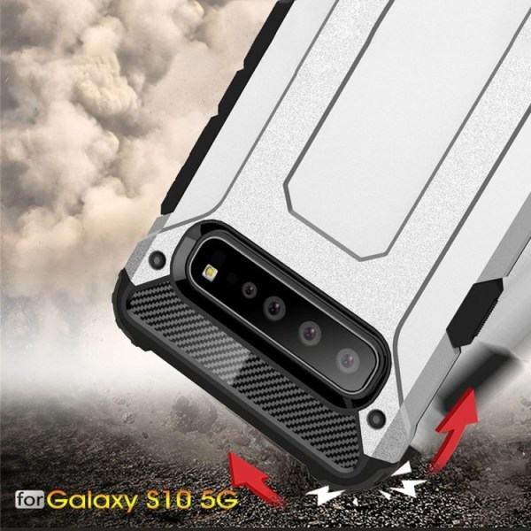 Samsung Galaxy S10 Plus - Skal / Mobilskal Tough - Flera färger Svart