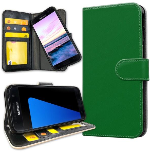 Samsung Galaxy S5 - Plånboksfodral Grön grå