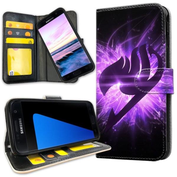 Samsung Galaxy S5 - Plånboksfodral Lila Fairy Tail purple