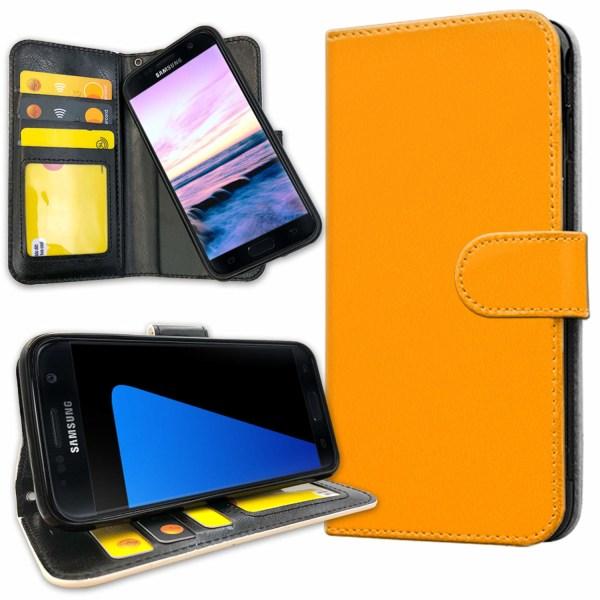Samsung Galaxy S5 - Plånboksfodral Orange Orange
