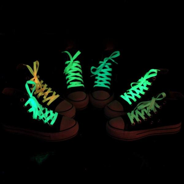Självlysande Skosnören (Ljusgrön)