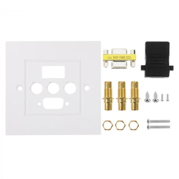 USB 3.0, 3 RCA, VGA Väggpanel