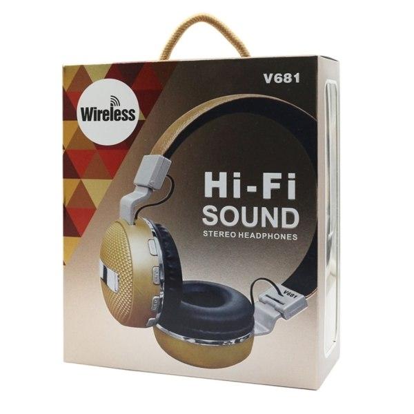 V681 Bluetooth Hörlurar med Mikrofon / TF-kort - Flera färger Röd