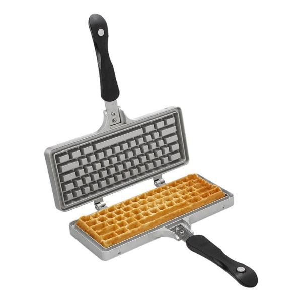 Våffeljärn - Formad som ett tangentbord