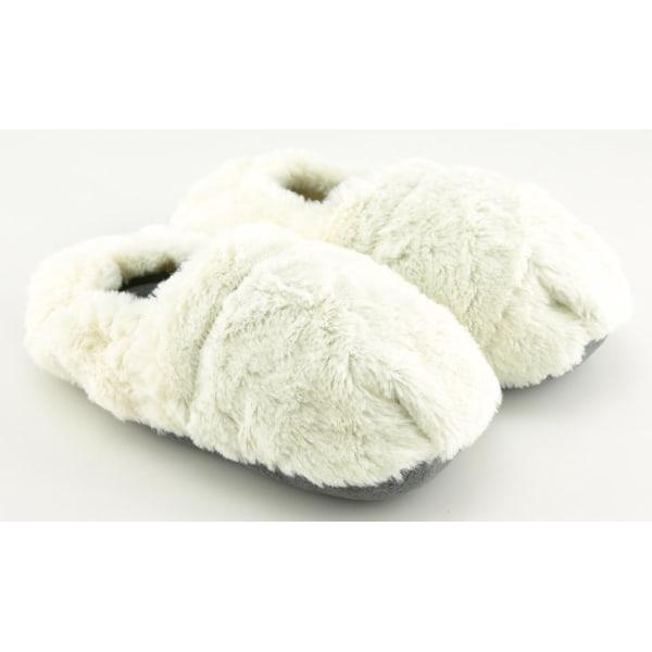 Värmetofflor / Mikrotofflor - Tofflor - Värmer upp Fötter - Vit Vit
